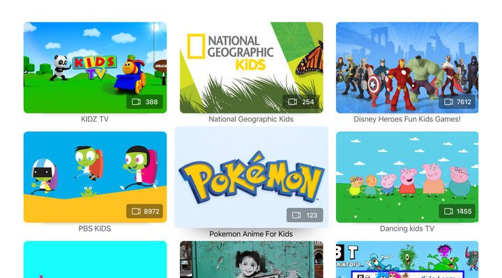 YouTube Kids Google's video streaming service app for children can now be viewed on Apple TV